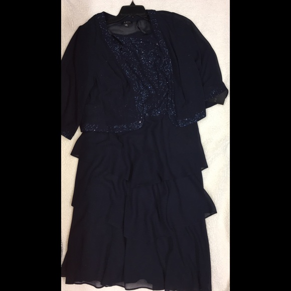 le bos Dresses | Plus Size Glitter Evening Dress Jacket | Poshmark